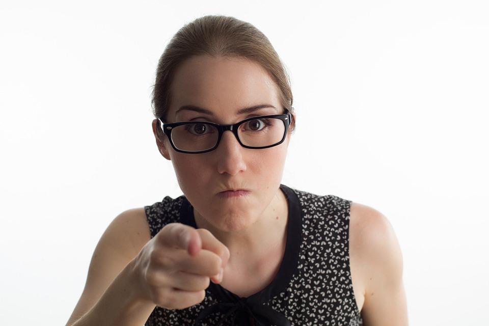 Angry Woman Bezel Case Office Secretariat