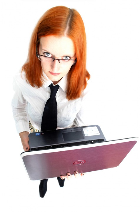 Job Woman Girl Business Female Laptop People